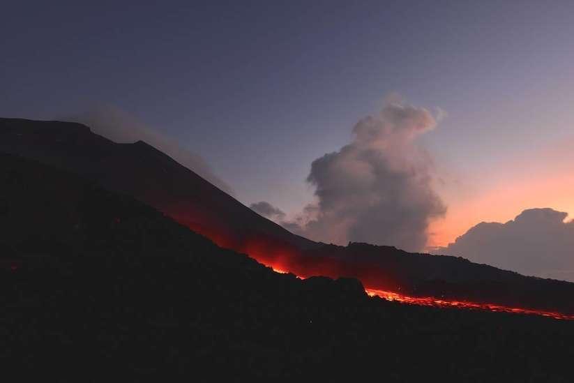 Guatemala pacaya volkan