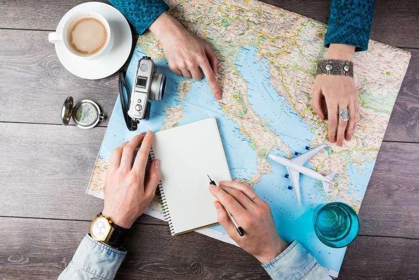 Uçakta seyahat planlama