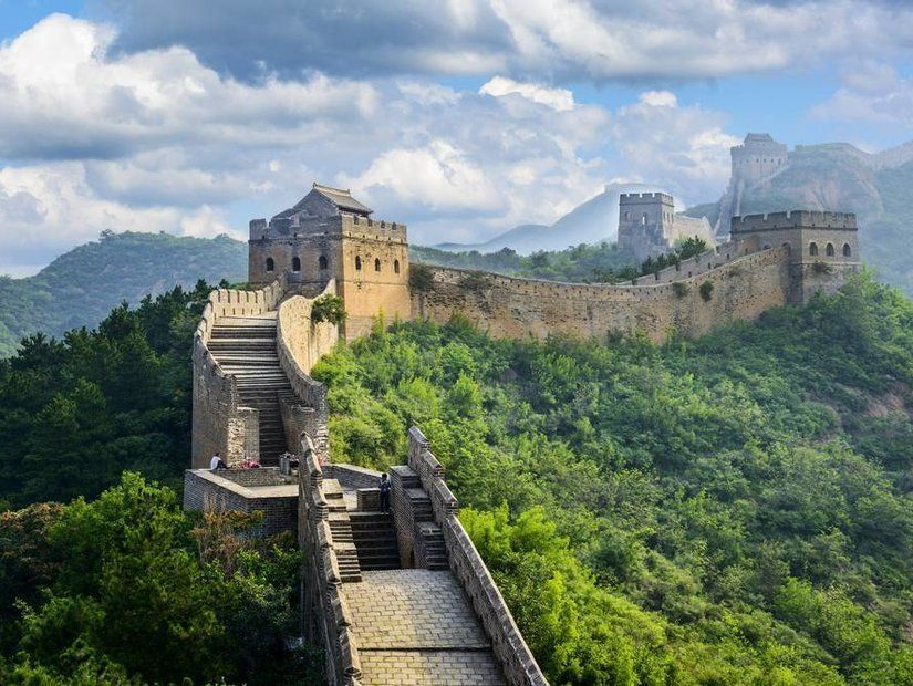 1- Çin Seddi'nde yürüyüş