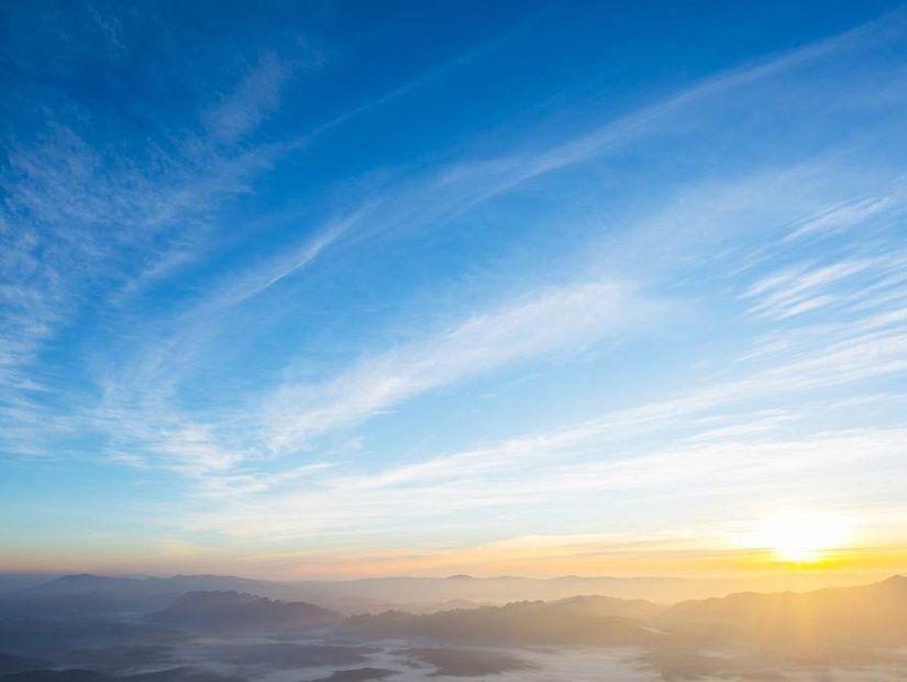 1- Sıcak hava ve mavi gökyüzü