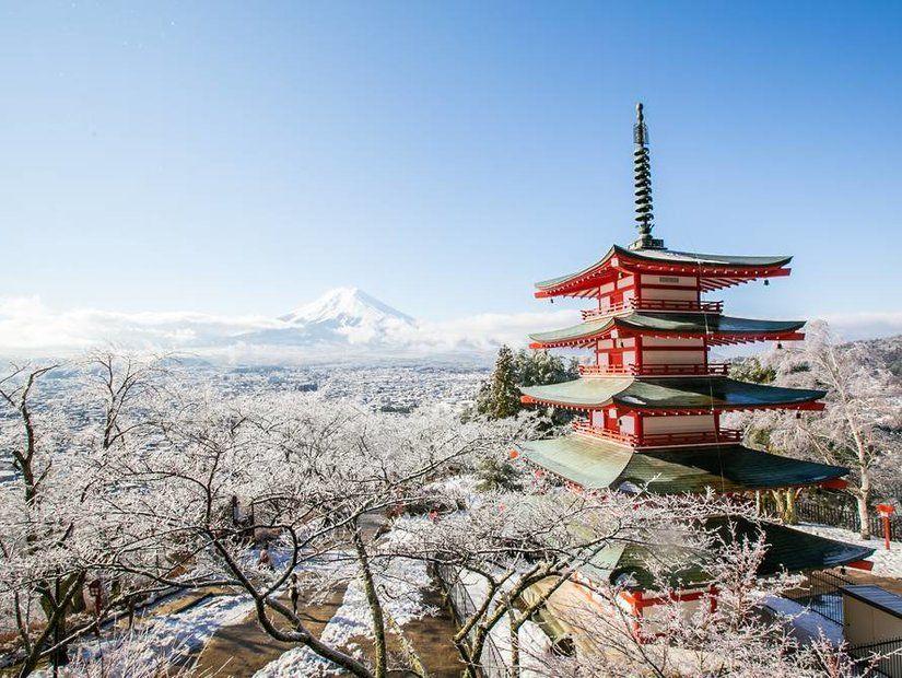 1- İdeal kar yağışı için Japonya