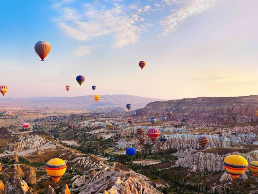 Kapadokya'da romantik balon turu