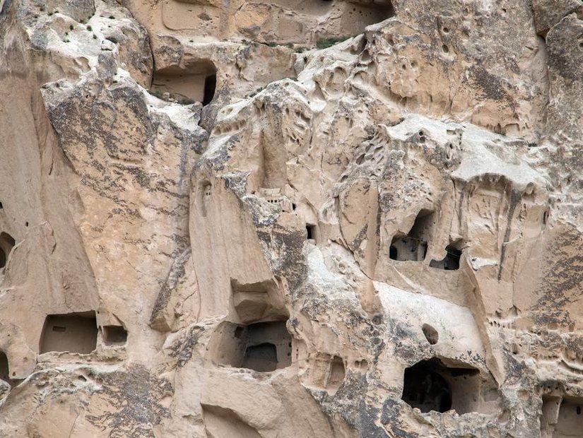 Kar altında Kapadokya