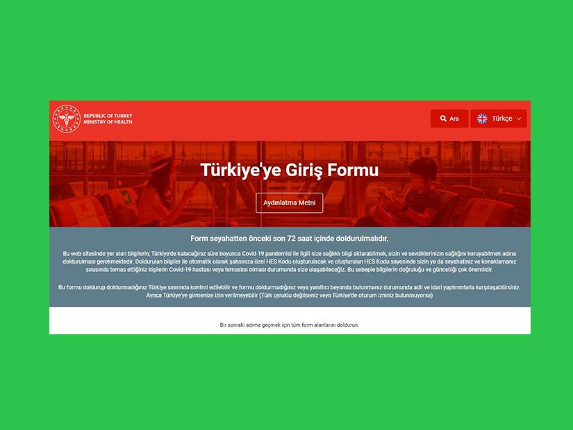 Türkiye'ye Giriş Formu ne zaman doldurulmalı?