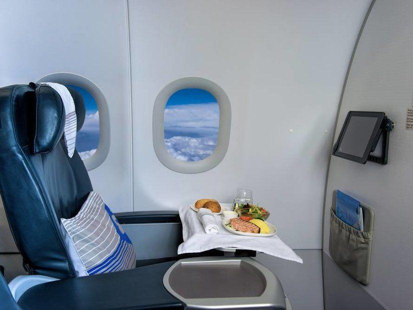 Yemekli Uçak Koltuğu