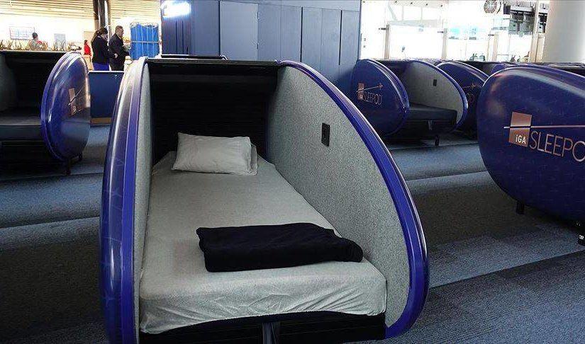 Rahat bir yatak ve yastık