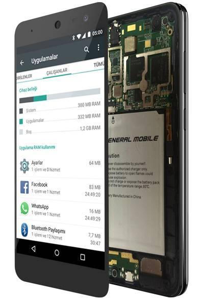 Android One 4G donanım