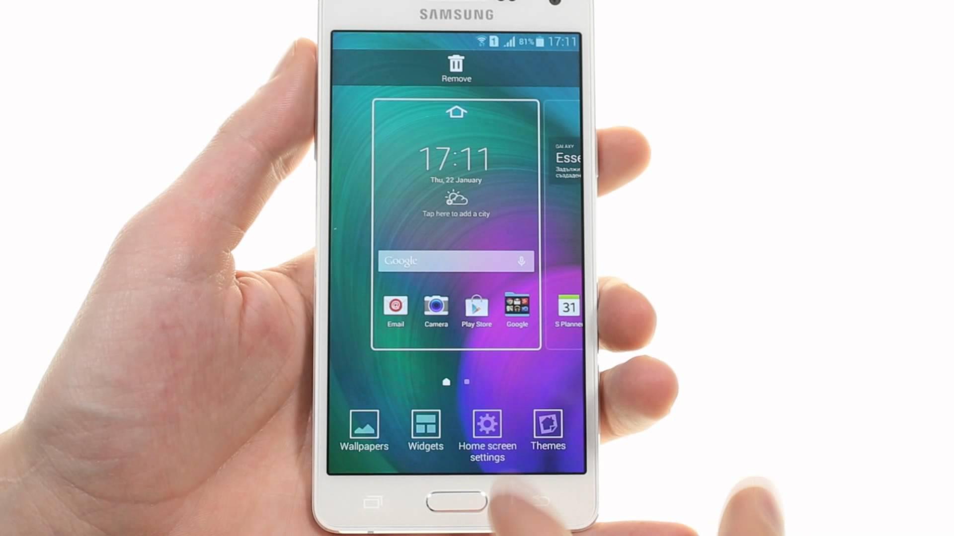 Galaxy A5 Arayüz